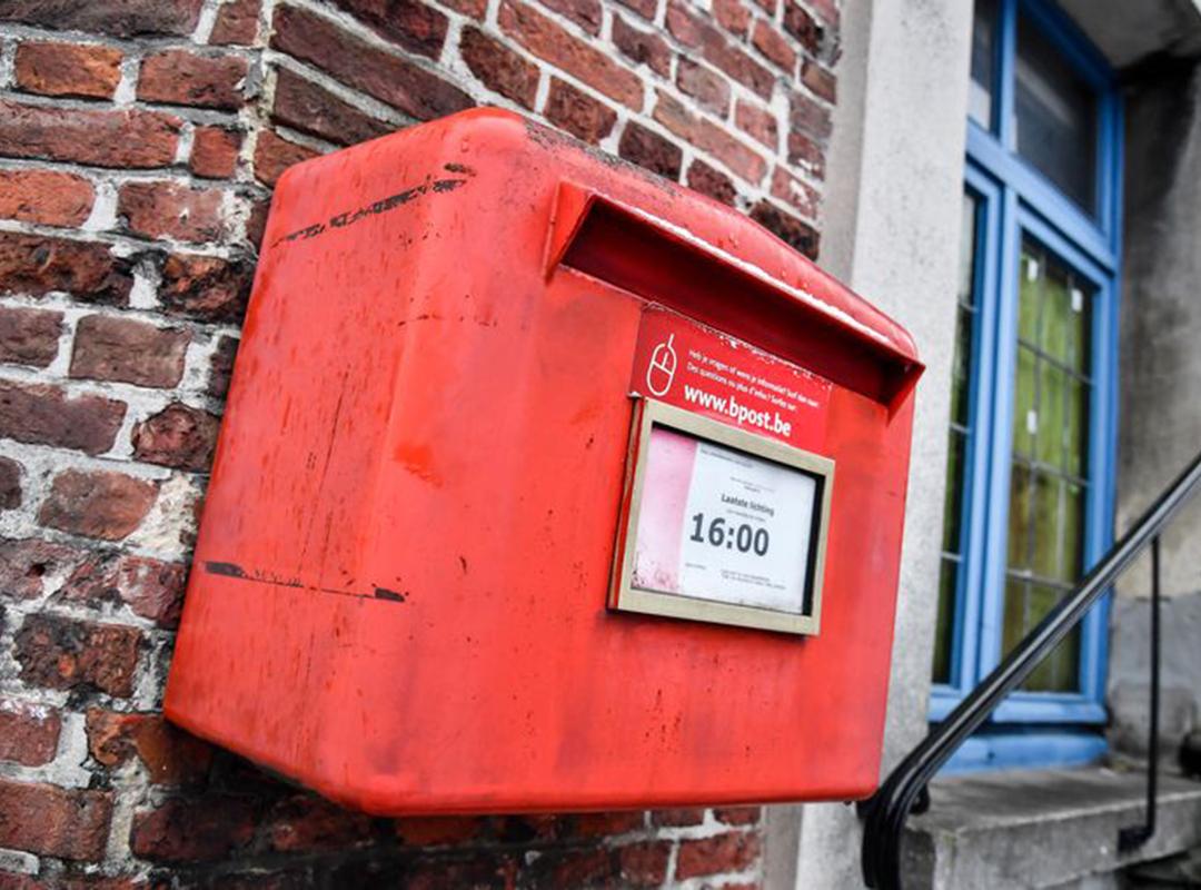 Rode brievenbus BPost